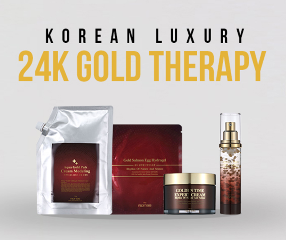 Tutorial for Korean 24K Gold therapy, the famous gold facial mask