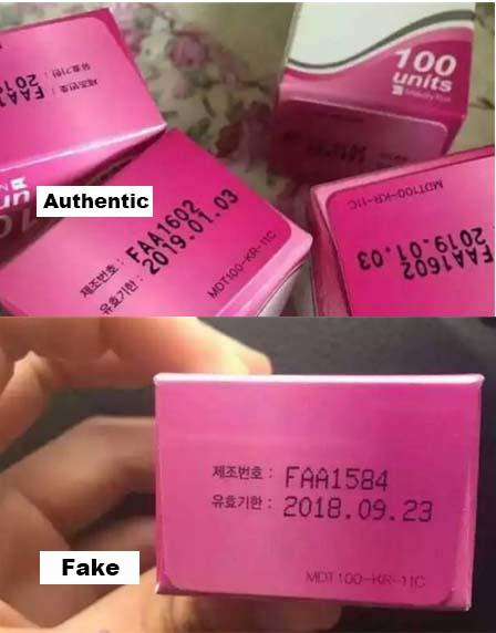 comparsion of authentic Meditoxin & fake